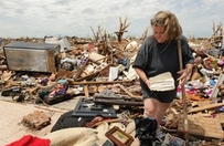 Woman found a Bible amidst the rubble
