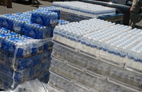 Pallets of water