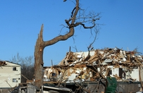 Damage by a tornado