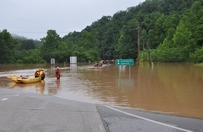 First responders in Kanawha County after flooding in West Virginia